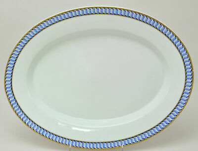 Antique KPM Large 17 Inch Blue Edge Porcelain Platter 19th Century