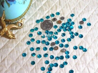 (410)*costume Makers Sellout*flat Back Rhinestones*jade*round*new!*