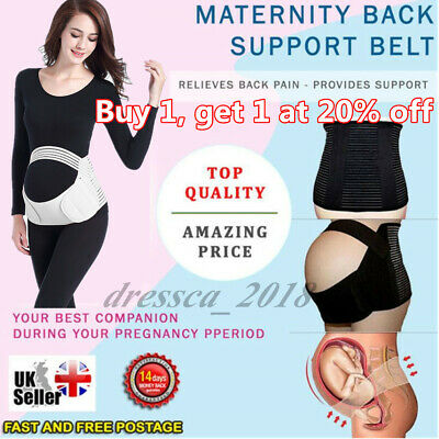 Pregnancy Maternity Belt Lumbar Back Support Waist Band Belly Bump Brace Strap X