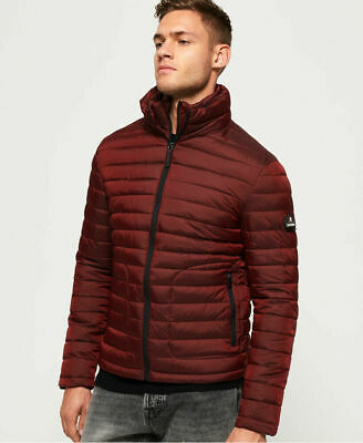 New Mens Superdry Fuji Double Zip Jacket Dark Red