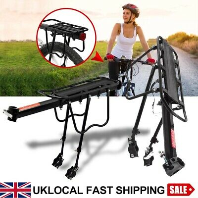 Alloy Cycling MTB Bike Bicycle Cycle Pannier Rear Rack Carrier Bracket 50Kg+Rope