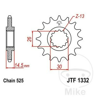 JT Front Sprocket 16T 525 Pitch Honda CB 750 F2 Seven Fifty 1992-1993