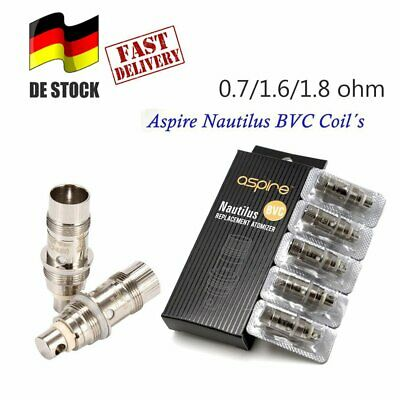 5X 1.6/1.8ohm BVC Coils Heads Replacement Aspire Nautilus Mini Tank Atomizer EM