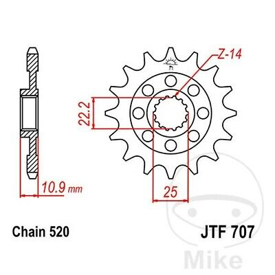 JT Front Sprocket Racing 17T 520 Pitch JTF707.17 Aprilia SXV 550 2006-2015