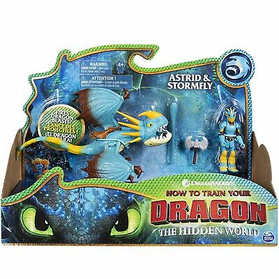 DreamWorks How To Train Your Dragon Astrid & Stormfly Dragon & Viking Figures