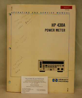 HP438A Power Meter Operating & Service Manual
