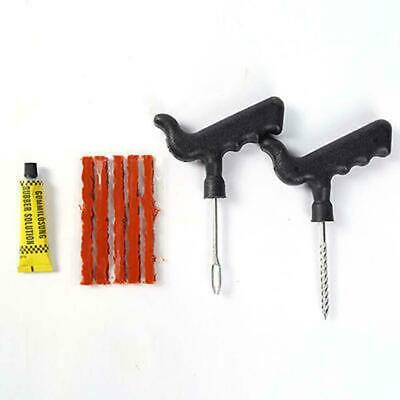 8PCS Car Tubeless Tire Repair Plugs Kit Rasp Needle Patch Fix Tools Cement Set ^