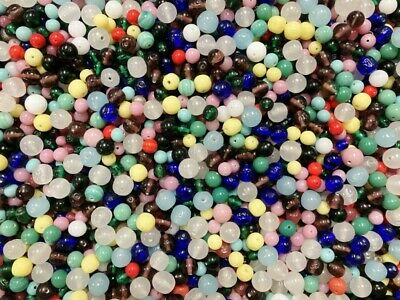 1 Pound Vintage Japan Cherry Brand Glass Miriam Haskell Stock Assorted Bead Lot