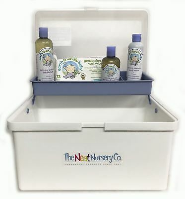 Baby Bathtime Pre Filled Baby Box Blue Organiser With Earth Friendly Baby