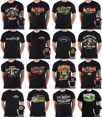 Gas Monkey Garage T Shirt Car 31 Monkey Kustom Builds Dallas Texas Official Mens