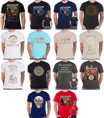 The Beatles T Shirt Sgt Pepper 50 Years Album cover band logo new official mens