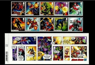 **best Price** Gb 2019 Pre Issue Marvel Comics Super Heroes Set & M/sheet Mnh