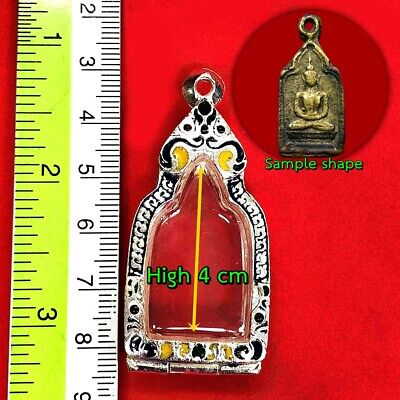 0200-Large Meditation Emerald Buddha Statue Amulet Lucky Green Gold Armor 49 Cm