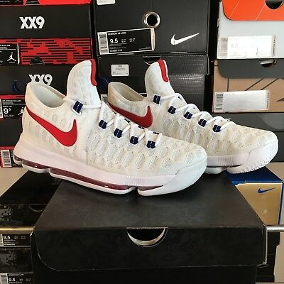 detailed look f9e61 65b96 New Ds Nike Zoom Kd 9 Ix Usa Kevin Durant Mens Size 9.5 Sold Out Double