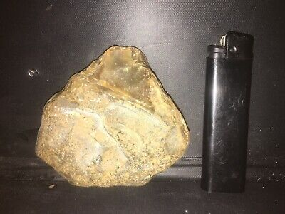 Early Paleolithic Flint Hand Axe With Simple Early Hidden Art Work
