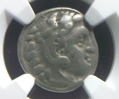 Greek Silver Drachm of Alexander III the Great, 336-323 BC NGC Certified   4002