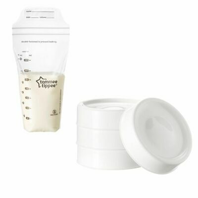 Tommee Tippee Closer to Nature Breast Baby Milk Storage Bags 36Pk & Lids 4Pk