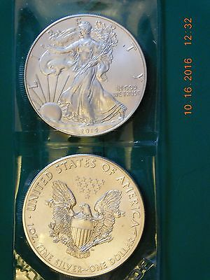 St. Patrick's Special 2014 West Point Mint One Troy Ounce .999 fine Silver Eagle