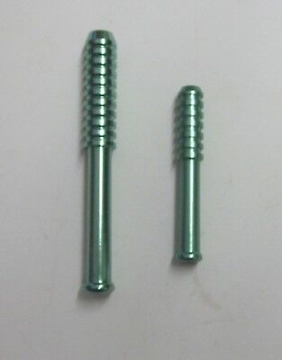 """(2) Bat Style One Hitter Metal Pipes, 3"""" & 2"""" for dugouts. Choice of color"""