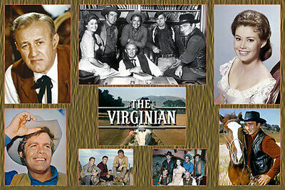 """4""""x6"""" MAGNET PRINT-""""THE VIRGINIAN"""" Western Heroes collage-  CAST"""