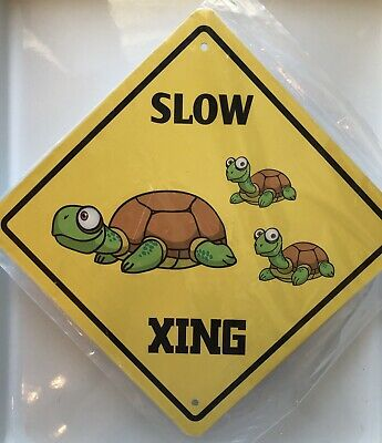 Slow Turtle Crossing >> Slow Turtle Crossing Sign New 7 95 Picclick