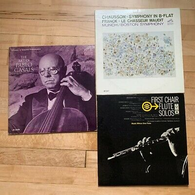 LOT 3 Classical Vinyl Records - Mostly VG+ Or Better LPs