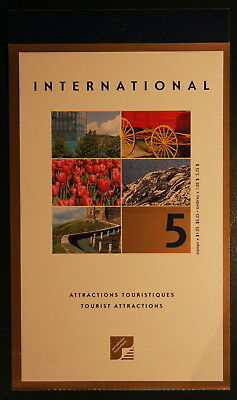 Canada 2001 Booklet Sc# BK244b Tourist Attractions (International)