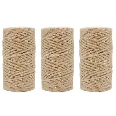 1000ft Jute Twine String Garden Gardening Art Craft Packaging 3 Rolls Per Pack