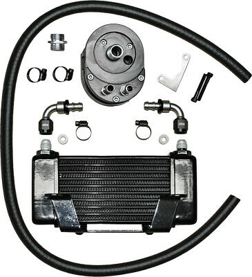 Lowmount 10-Row Oil Cooler System (Black) Jagg Oil Coolers 750-2400