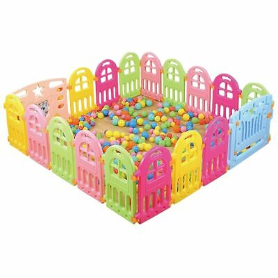 Baby Playpen Plastic Fencing Game Play Yard Safety Barriers Children Protector