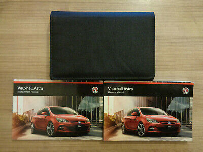 Vauxhall Astra Owners Handbook/Manual and Wallet 13-16