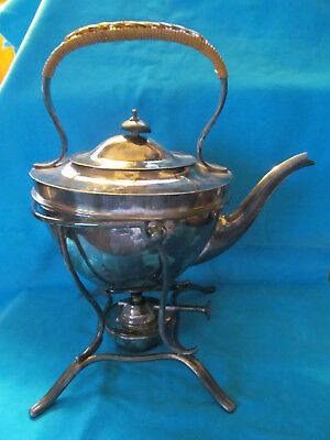 Elegant, Silver Plate, Tilting Tea Pot/kettle With Stand And Warmer - Vgc