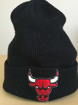 251cc21112f ADIDAS NBA CHICAGO Bulls Team Logo Classic Black Cuffed Knit Beanie ...
