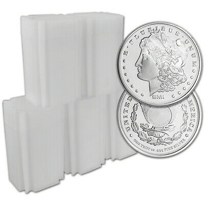 100-pc. 1 oz. Silver Round - Sunshine Morgan - .999 (Lot, Rolls, 5 Tubes of 20)