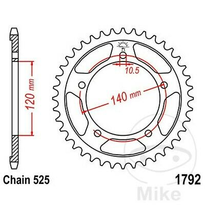 JT Rear Sprocket 47T 525P JTR1792.47 Steel Suzuki GSX-R 600 U3 2008