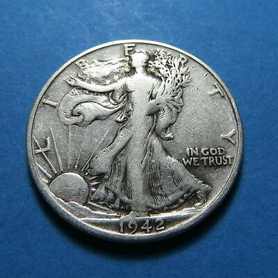 1942-S  Walking Liberty Half Dollar  For Collection  Combined Shipping ~ Lot 214