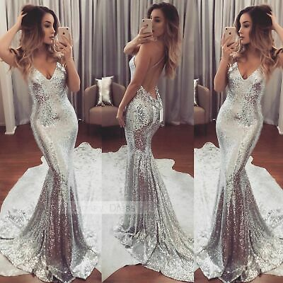 Women Formal Long Dress Prom Bridesmaid Wedding Evening Party Cocktail Ball Gown