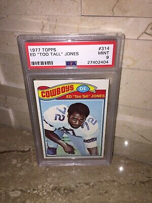 Ed Too Tall Jones 1977 Topps Football Card Psa 9