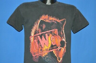 vintage 90s WCW NWO WOLF NEW WORLD ORDER CHAMPIONSHIP WRESTLING t-shirt YOUTH L