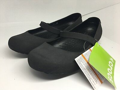 5c0aabb486791 NEW CROCS ALICE Black Slip On Shoes Womens 8 Loafers Free Ship ...