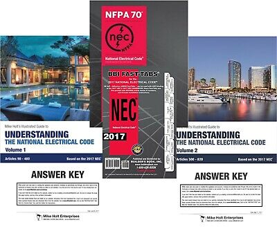 Mike Holt's Illustrated Guides to Understanding NEC Code Kit (UV12SBFT) 2017 Ed