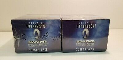 2 BOX LOT Decipher Star Trek Official Sealed Tournament Collectible Card Decks