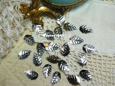 (269)*Costume Makers Sellout*Sequins*Leaves*Silver*New!*