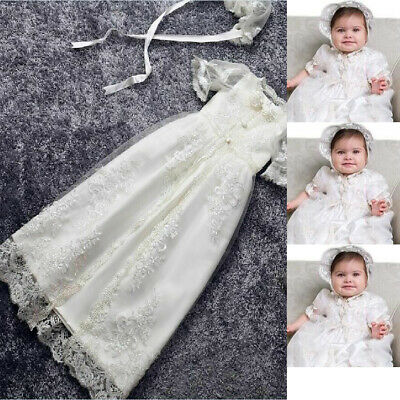 aac8059ea5ba 3-6 Months White Baptism Dresses For Baby Girls Christening Gowns Outfits  Stock