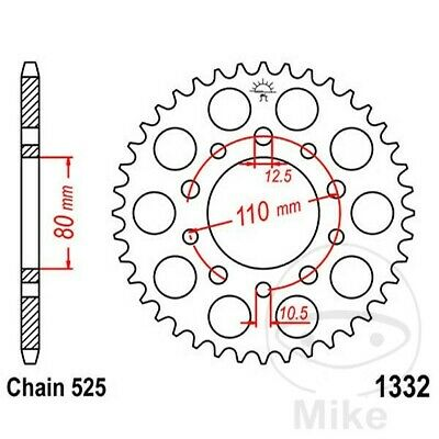 JT Rear Sprocket 44T 525P JTR1332.44 Steel Triumph Speedmaster 865 EFI 2012