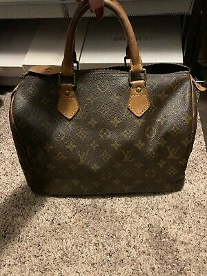 4b0d2a9d8aaf 100% AUTHENTIC LOUIS Vuitton Speedy 30 Monogram Handbag Boston Purse ...