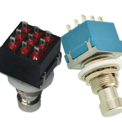 3 PDT 9-Pin Push Button Foot Switch True Bypass On-On High Quality USA Useful