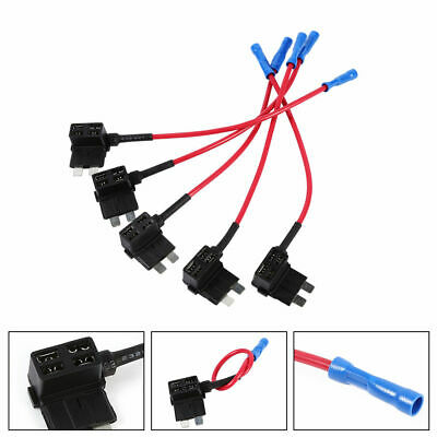 Car Add Circuit Tap Piggy Back Standard Blade Fuse Box Holder Kit Set ATO ATC WY