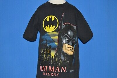 vintage 90s BATMAN RETURNS MOVIE MICHAEL KEATON PENGUIN t-shirt YOUTH LARGE YL