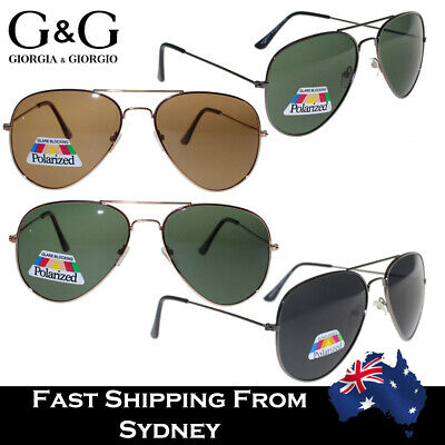Mens Womens Retro Aviator Sunglasses Polarized Fashion Black Brown Green UV 400